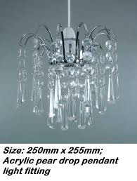 Acrylic Crystal Chandelier Drops by Acrylic Teardrop Ball Drop Nickle Frame Ceiling Light Fitting