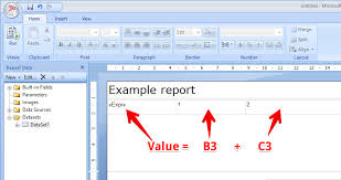 report builder templates sql server how to insert excel formula to cell in report builder