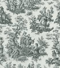 Black And White Toile Bedding Home Decor Print Fabric Waverly Rustic Toile Black Joann