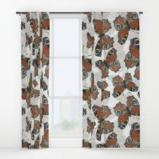 peacock butterfly pattern window curtains by katerinamitkova society6