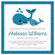whale baby shower invitations and baby whales baby shower invitation the sea