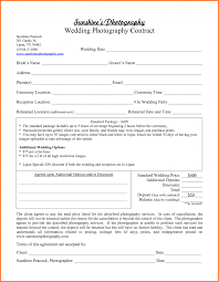 wedding photography invoice template contract sales report