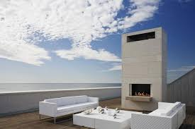 roof terrace outdoor fireplace furniture summer retreat in
