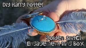 harry potter inspired engagement ring diy harry potter golden snitch engagement ring box