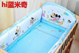 Mickey Mouse Crib Bedding Sets Promotion 7pcs Mickey Mouse Crib Bedding Sets Newborn Baby