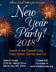 what to buy for new year buy tickets for alano club new year s party at hebron house