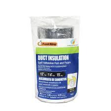 e o 12 in x 15 ft self stick foam foil duct insulation fv516