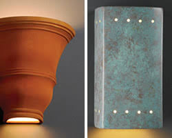 Ceramic Outdoor Wall Sconces Justice Design Damp U0026 Wet Location Ceramic Collection Stone