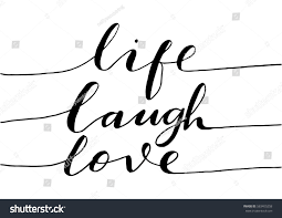 live laugh love hand lettered quote stock vector 583405258