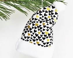 White Heart Christmas Decorations by Felt Heart Ornament Felt Christmas Ornament Floral Felt