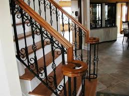 Staircase Banister Oak Top Rail With Detailed Iron Inner Staircase Banister U2013 Home