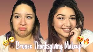 bronze smoky thanksgiving makeup
