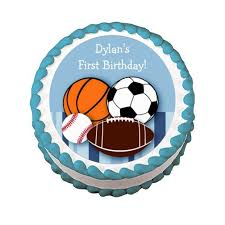 sports cake toppers edible images photo cakes cake stickers sports themed edible cake