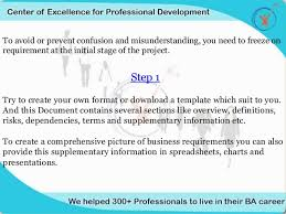 effective ways to write business requirements document coepd