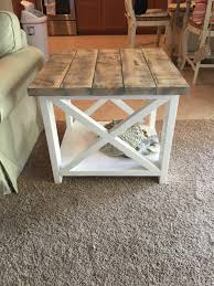 Patio End Table Plans Free by Custom Rustic Farmhouse End Table By Thewoodmarket On Etsy Https