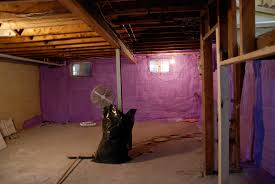the basement spray foam fun rambling renovators