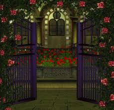 rose garden gate flowers u0026 nature background wallpapers on