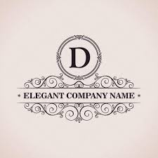 luxury logo calligraphic pattern elegant decor elements vintag