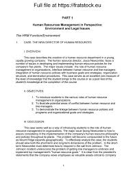 solutions manual human resource management applications cases