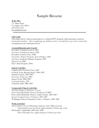 Air Force Resume Example by Sample Cv For Cabin Crew Sample Resume Format