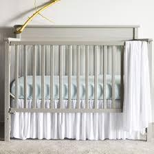 all new modal pleated white crib skirt oliver b