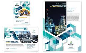 oil u0026 gas company brochure template design