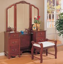 Antique Makeup Vanity Table Mahogany Wood Old Make Up Vanity Table In Cherry Finish Having