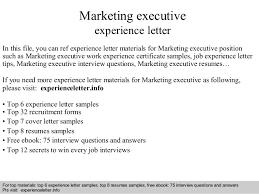 marketing executive experience letter 1 638 jpg cb u003d1408681773
