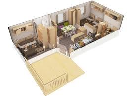 mobile home 3 chambres mobil home louisiane pacifique 3 xl 3 chambres côté plage piscine