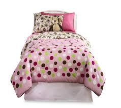 Monkey Bedding Set Furry Friends Monkey Dots Microfiber Comforter Set