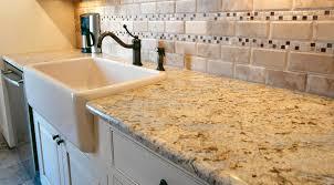 New Counters Design Alliance New Mexico Colonial Cream Granite Counters Apron