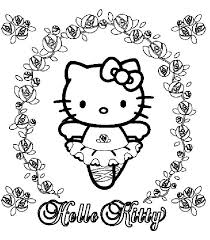 ballerina kitty coloring cute pages