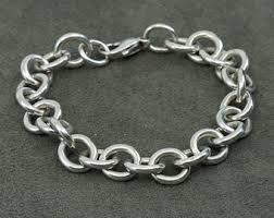 solid sterling silver charm bracelet images Sterling silver charm bracelet etsy jpg