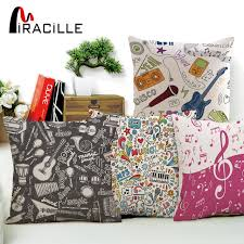 music note home decor miracille linen 18 inches music note home decoration cushion cover