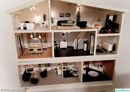 Modern Doll House Furniture by Lola U0027s Monochrome Dolls House For Her Sonny Angels This Is The