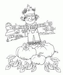 autumn coloring pages for preschool kids coloring