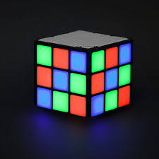 light up portable speaker cube led speaker bluetooth wireless portable light rechargeable 3w