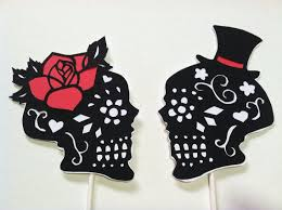 day of the dead cake toppers day of the dead skulls wedding cake topper silhouette