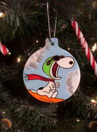 snoopy flying ace the pilot and baron ornament tree