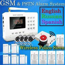 wireless pstn gsm alarm system 433mhz home burglar security alarm system home security alarms security alarm