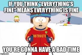 Everything Is Fine Meme - super cool ski instructor meme imgflip
