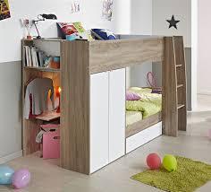 Parisot Stim Bunk Bed With  Door Wardrobe - Parisot bunk bed