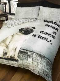 Dog Duvet Covers Percy Pug Duvet Cover Pug Dog Bedding Set Photographic Pug Dog