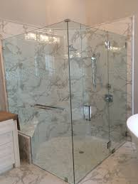 bathroom fabulous frameless glass shower doors with tile wall and