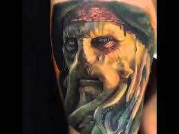 marvelous davy jones tattoo hd youtube