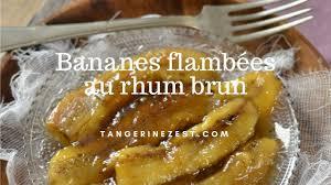 cuisine brun bananes flambées au rhum brun