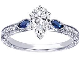 benitoite engagement ring engagement ring pear engagement ring blue sapphire