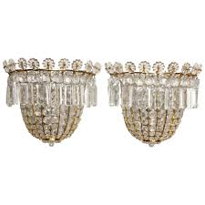 bedrooms outstanding crystal wall sconce two sets fit in roasted