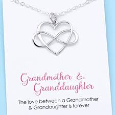 birthstone necklace for grandmother grandmother granddaughter infinity heart pendant unique gift