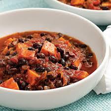 chili cuisine potato black bean chili recipe eatingwell